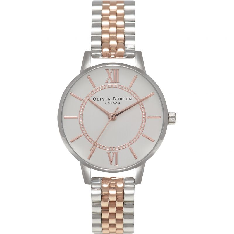 Wonderland Rose Gold & Rose Gold And Silver Bracelet Watch