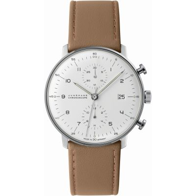 Junghans Max Bill Chronoscope Herrenchronograph in Braun 027/4502.00