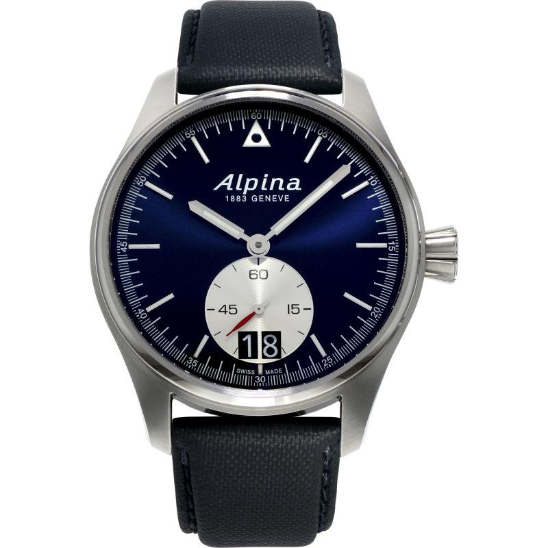 Mens Alpina Startimer Pilot Big Date Watch