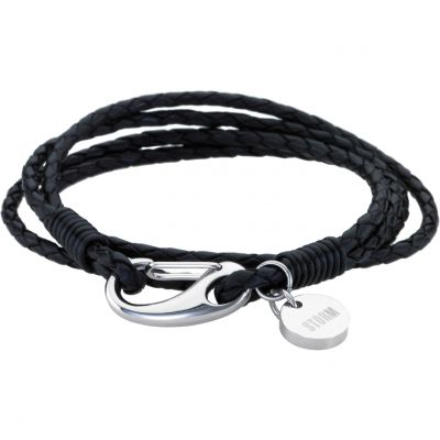 Mens STORM Stainless Steel Jax Wrap Bracelet Black JAX-WRAP-BRACELET-BLACK