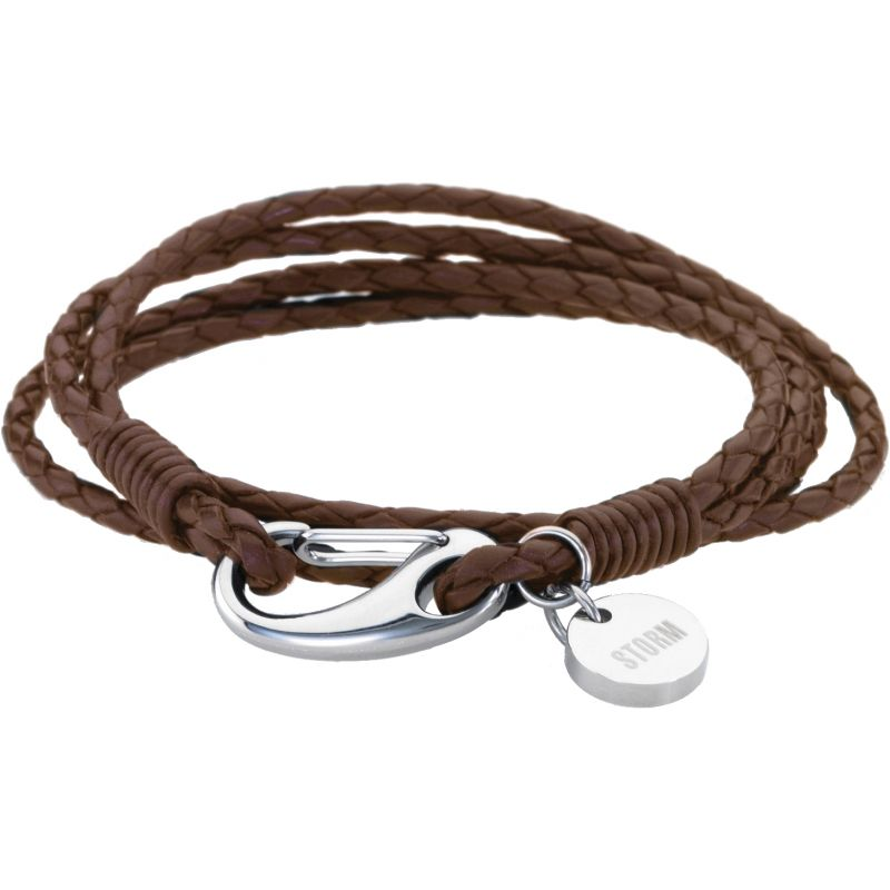 Ladies STORM Stainless Steel Jax Wrap Bracelet Brown JAX-WRAP-BRACELET-BROWN