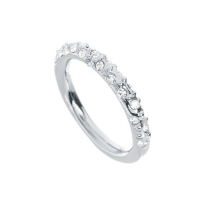 Ladies Karen Millen Crystal Sprinkle Ring Medium KMJ607-01-02M