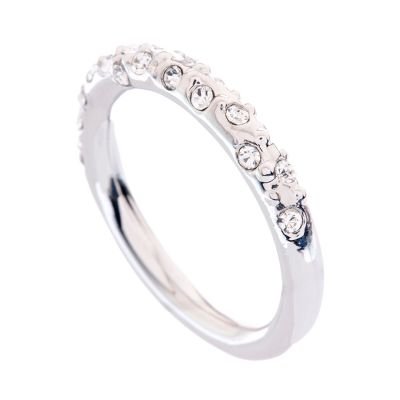 Biżuteria damska Karen Millen Jewellery Crystal Sprinkle Ring Medium KMJ607-01-02M