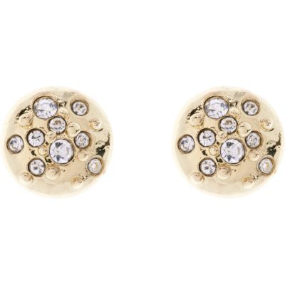 Karen Millen Dames Crystal Sprinkle Stud Earrings Plastic/ resin KMJ562-30-02