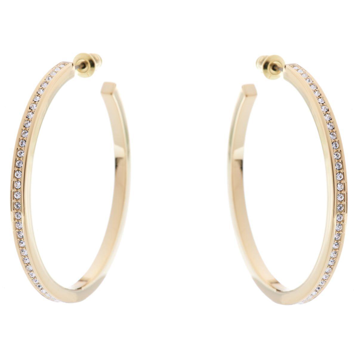 Ladies Karen Millen Large Hoop Earrings