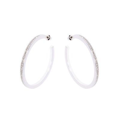 Ladies Karen Millen Large Hoop Earrings KMJ173-01-02