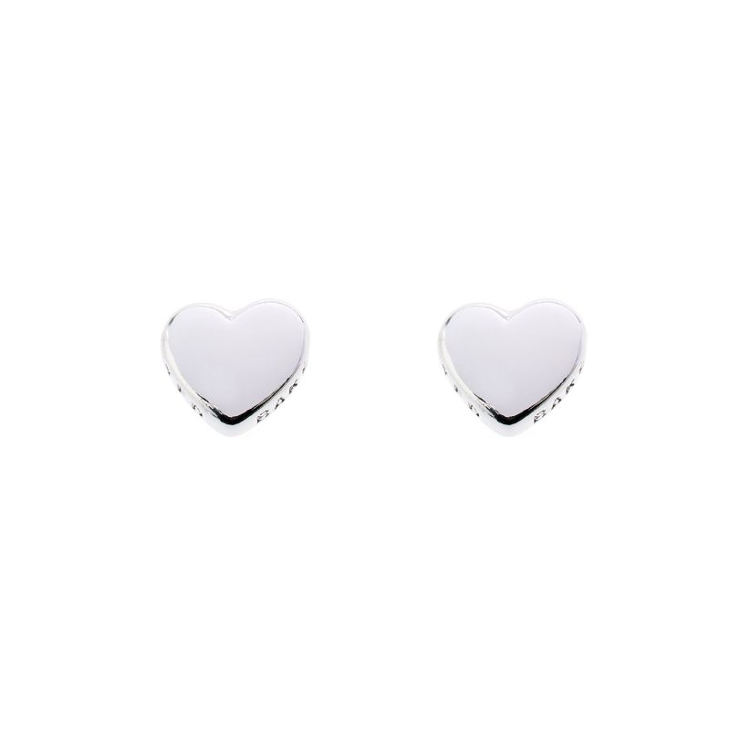 Ladies Stainless Steel Harly Tiny Heart Stud Earrings