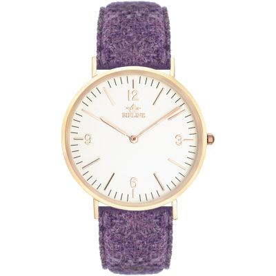 Birline Woodley Rose Gold Unisexklocka Lila BIR001111