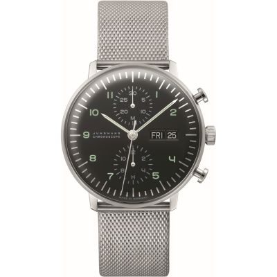 Junghans English Day Version max bill Chronoscope Herrenchronograph in Silber 027/4500.45