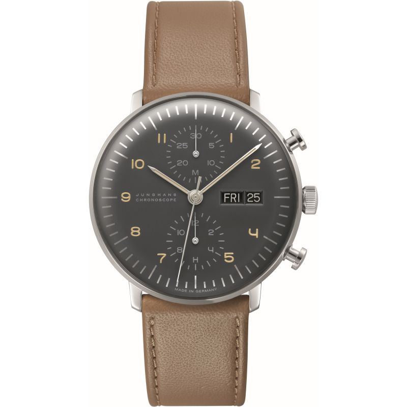 Mens Junghans max bill Chronoscope Automatic Chronograph Watch 027/4501.01