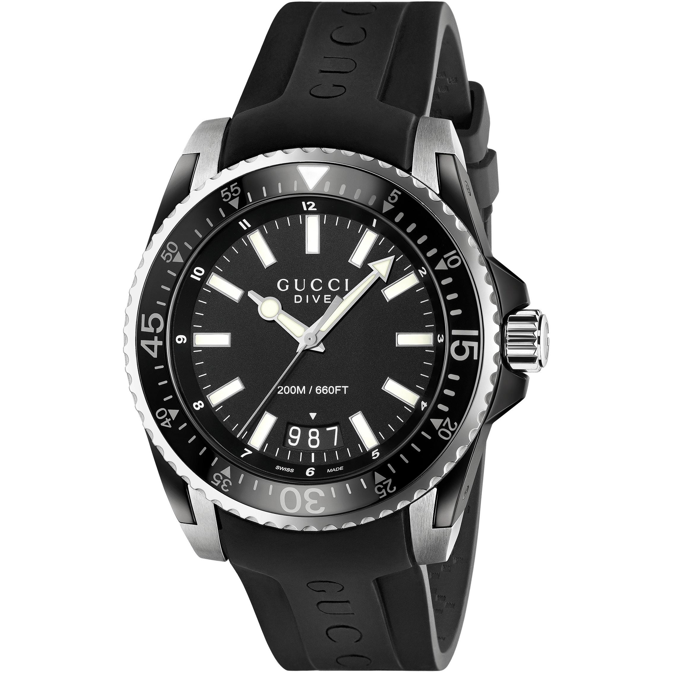 b4b507ef0ff Gents Gucci Dive 45mm Watch (YA136204)