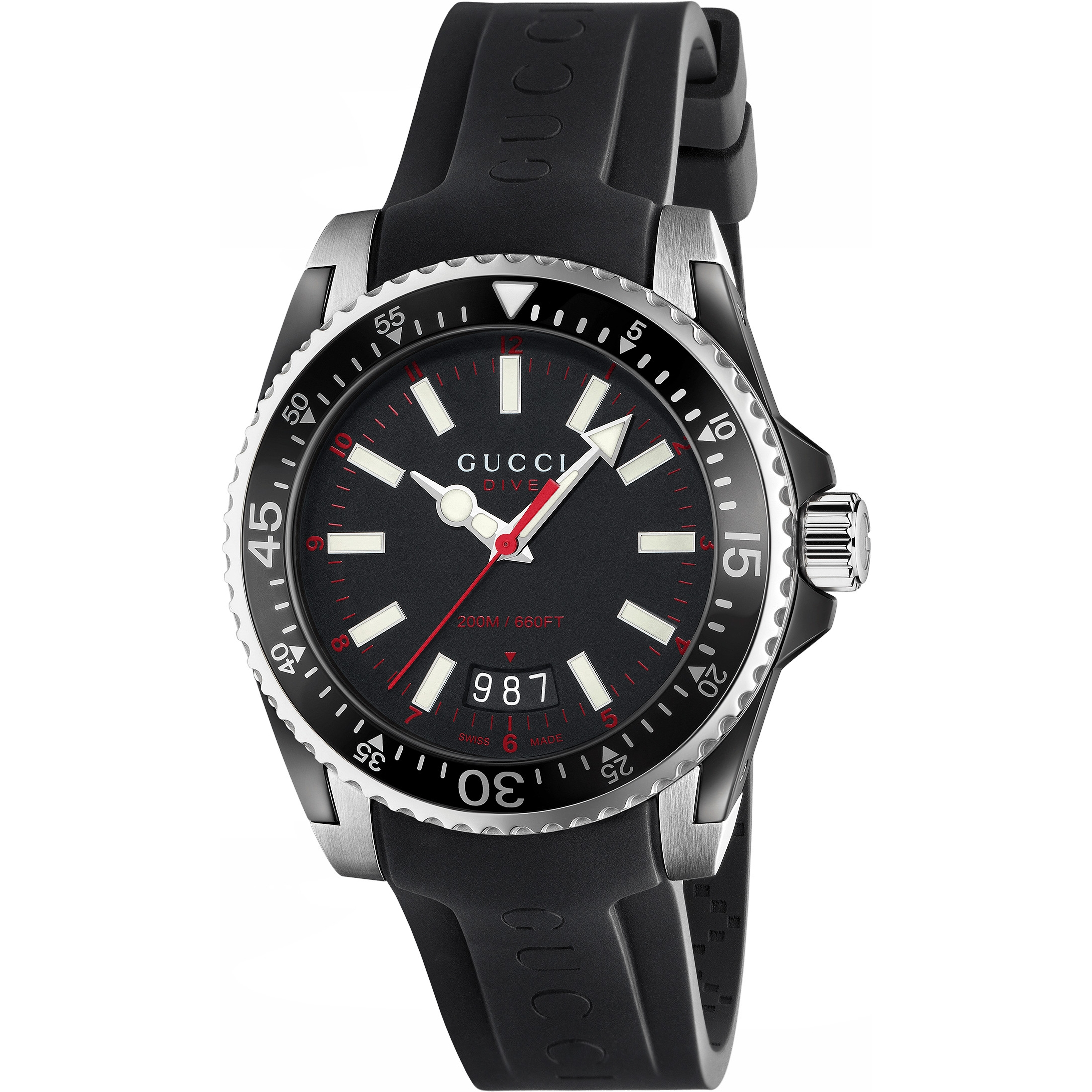 015da1c538e Gents Gucci Dive 40mm Watch (YA136303)