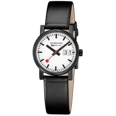 Mondaine Swiss Railways Evo Big Date Dameshorloge Zwart A6693030561SBB