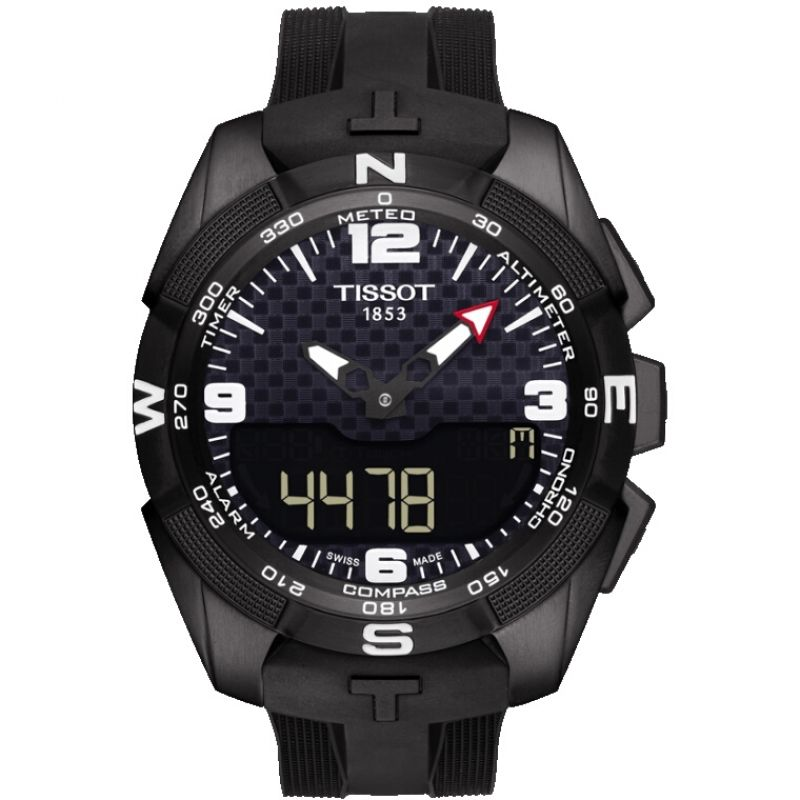 Mens Tissot T-Touch Expert Solar Alarm Chronograph Solar Powered Watch T0914204705701