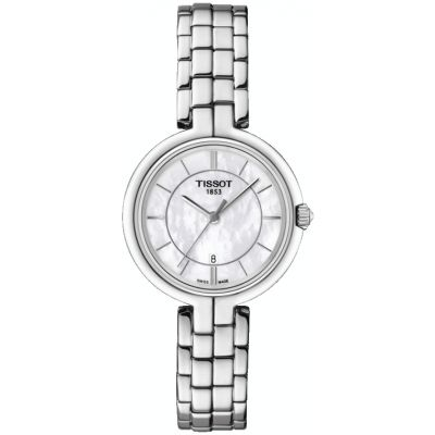 Tissot T-Lady Flamingo Damenuhr in Silber T0942101111100