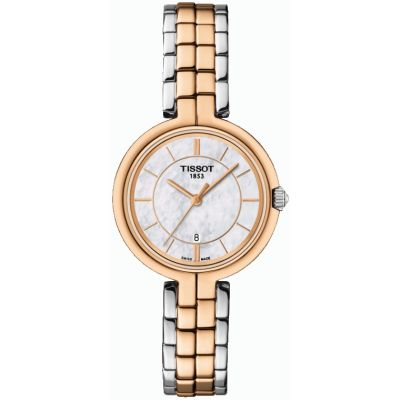 Tissot T-Lady Flamingo Damenuhr in Zweifarbig T0942102211100