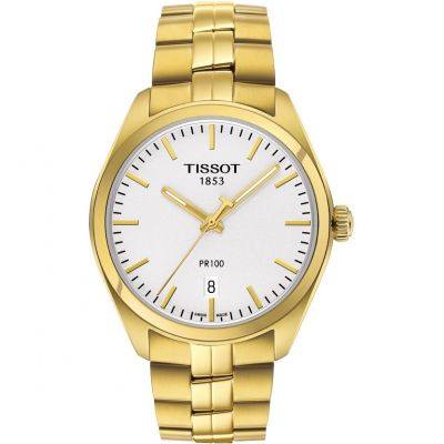 Tissot T-Classic PR100 Herrenuhr in Gold T1014103303100