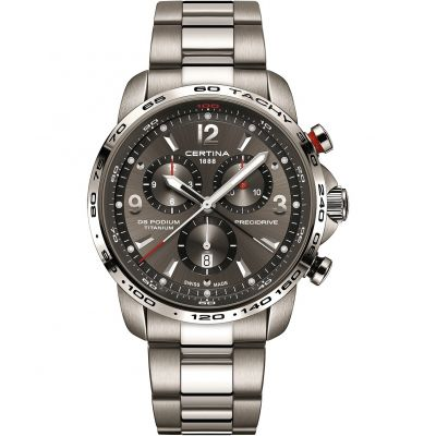 Certina DS Podium Precidrive Herrenchronograph in Silber C0016474408700