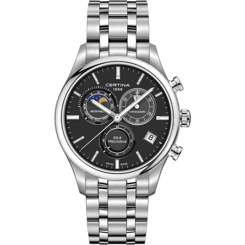 Mens Certina DS-8 Precidrive Moonphase Chronograph Watch
