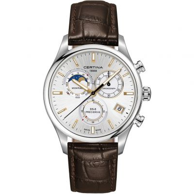 Certina DS-8 Precidrive Moonphase Herrenchronograph in Braun C0334501603100