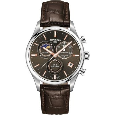 Certina DS-8 Precidrive Moonphase Herrenchronograph in Braun C0334501608100