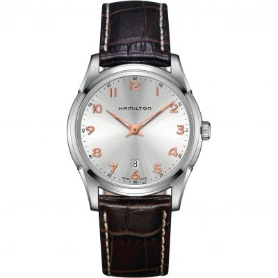 Hamilton Jazzmaster Thinline Herrenuhr in Braun H38511513