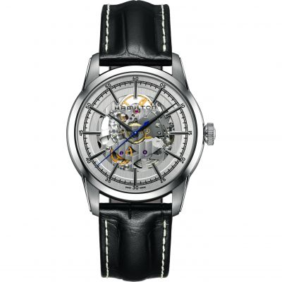 Mens Hamilton Railroad Skeleton Automatic Watch H40655751
