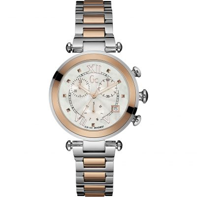 Gc Lady Chic Dameschronograaf Tweetonig Y05002M1