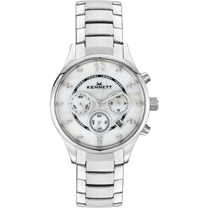 Ladies Kennett Lady Savro Chronograph Watch LWSAVWHSILMET