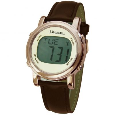 Ladies Lifemax Chic Atomic Talking Alarm Watch 1415C