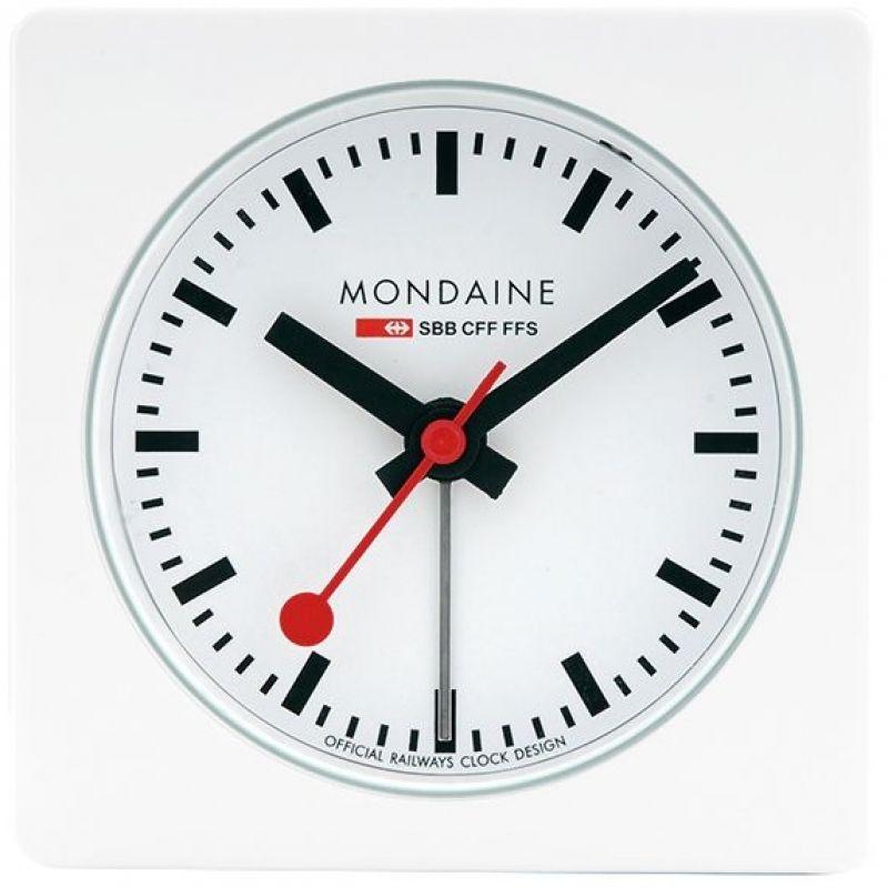 Mondaine Swiss Railways Cube Alarm Clock
