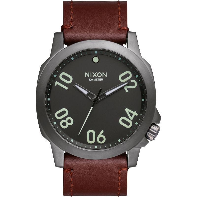 Mens Nixon The Ranger 45 Leather Watch