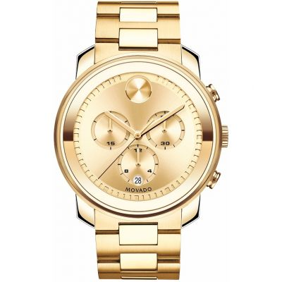 Movado Bold Bold Metals Herrenchronograph in Gold 3600278