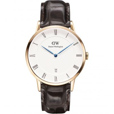 Mens Daniel Wellington Dapper 38mm York Rose Watch DW00100085