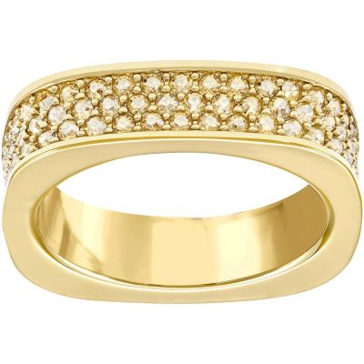 Ladies Swarovski PVD Gold plated Size Q Vio Ring 58 5139701