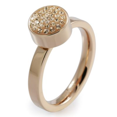 Folli Follie Dam Bling Chic Ring PVD roséguldspläterad 5045.3112
