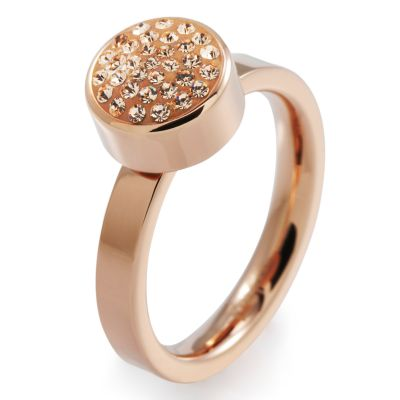 Damen Folli Follie Size L.5 Bling Chic Ring PVD rosévergoldet 5045.3110