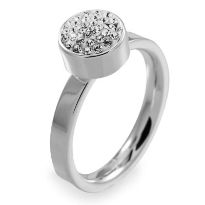 Ladies Folli Follie Stainless Steel Size P Bling Chic Ring 5045.3103
