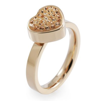 Folli Follie Dam Bling Chic Ring PVD roséguldspläterad 5045.3108
