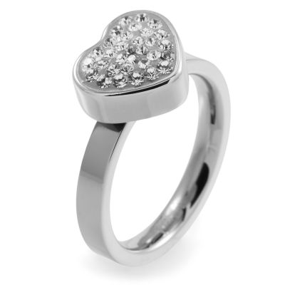 Folli Follie Dames Bling Chic Ring Roestvrijstaal 5045.3099