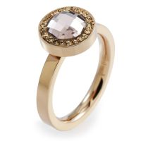 Ladies Folli Follie PVD rose plating Size L.5 Classy Ring 5045.5138