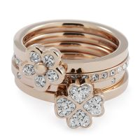 Ladies Folli Follie Size P Winter Wonder Ring 5045.4755