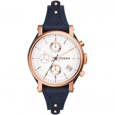Ladies Fossil Original Boyfriend Chronograph Cuff Watch ES3838