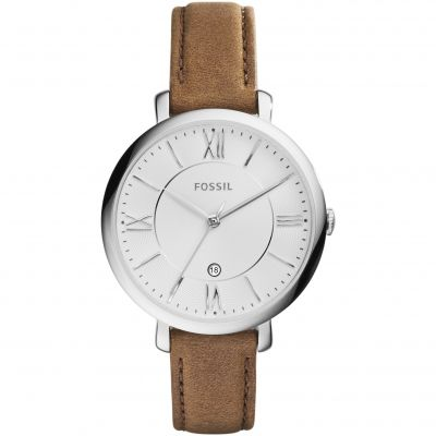 Ladies Fossil Jacqueline Brown Leather Watch ES3708