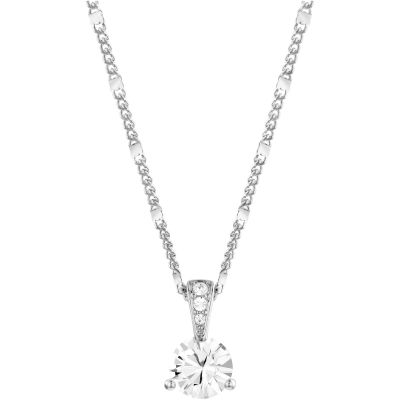 Ladies Swarovski Stainless Steel Solitaire Necklace 1800045