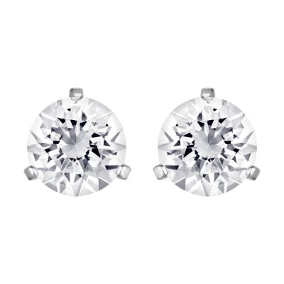 Ladies Swarovski Stainless Steel Solitaire Earrings 1800046