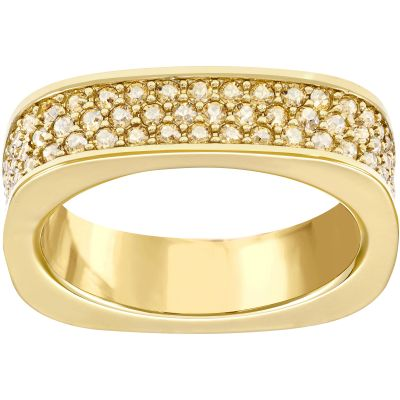 Ladies Swarovski PVD Gold plated Size O Vio Ring 55 5112139