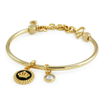 Biżuteria damska Juicy Couture Jewellery Enamel Crown Slider Bangle WJW386