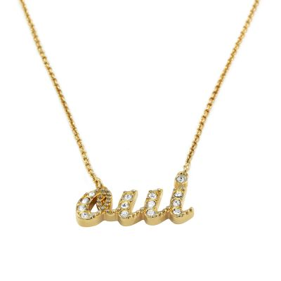 Ladies Juicy Couture PVD Gold plated Pave Oui Wish Necklace WJW431-710