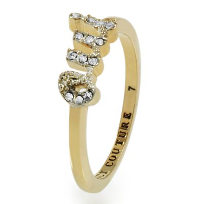 Gioielli da Donna Juicy Couture Jewellery Pave Oui Ring WJW443-7-710